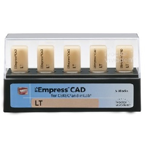602582 Empress CAD Cerec/Inlab  блоки LT BL1 I12 5шт